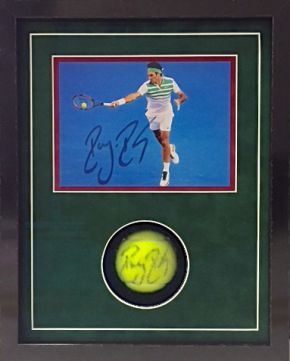 piłka tenisowa z autografem oprawa